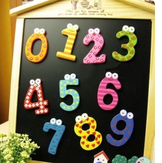 Bộ chữ số nhiều màu sắc sẽ thu hút bé hơn